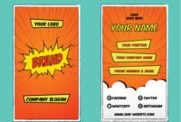 Superhero Bold Business Card Template with Superhero Trading Card Template