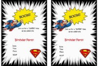 Superman Free Printable Birthday Party Invitations inside Superman Birthday Card Template