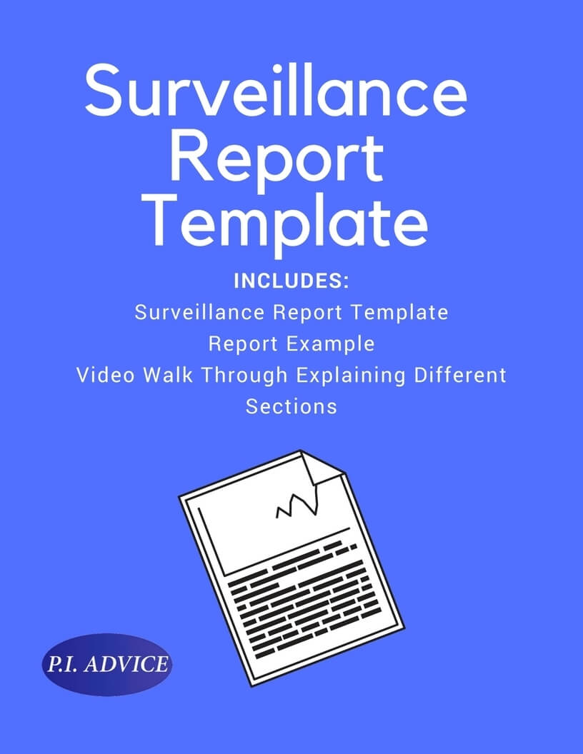 Surveillance Report Template Intended For Private Investigator Surveillance Report Template