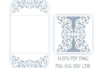 Svg Wedding Invitation 5X5'' Gate Fold Card Template | Faire In Silhouette Cameo Card Templates