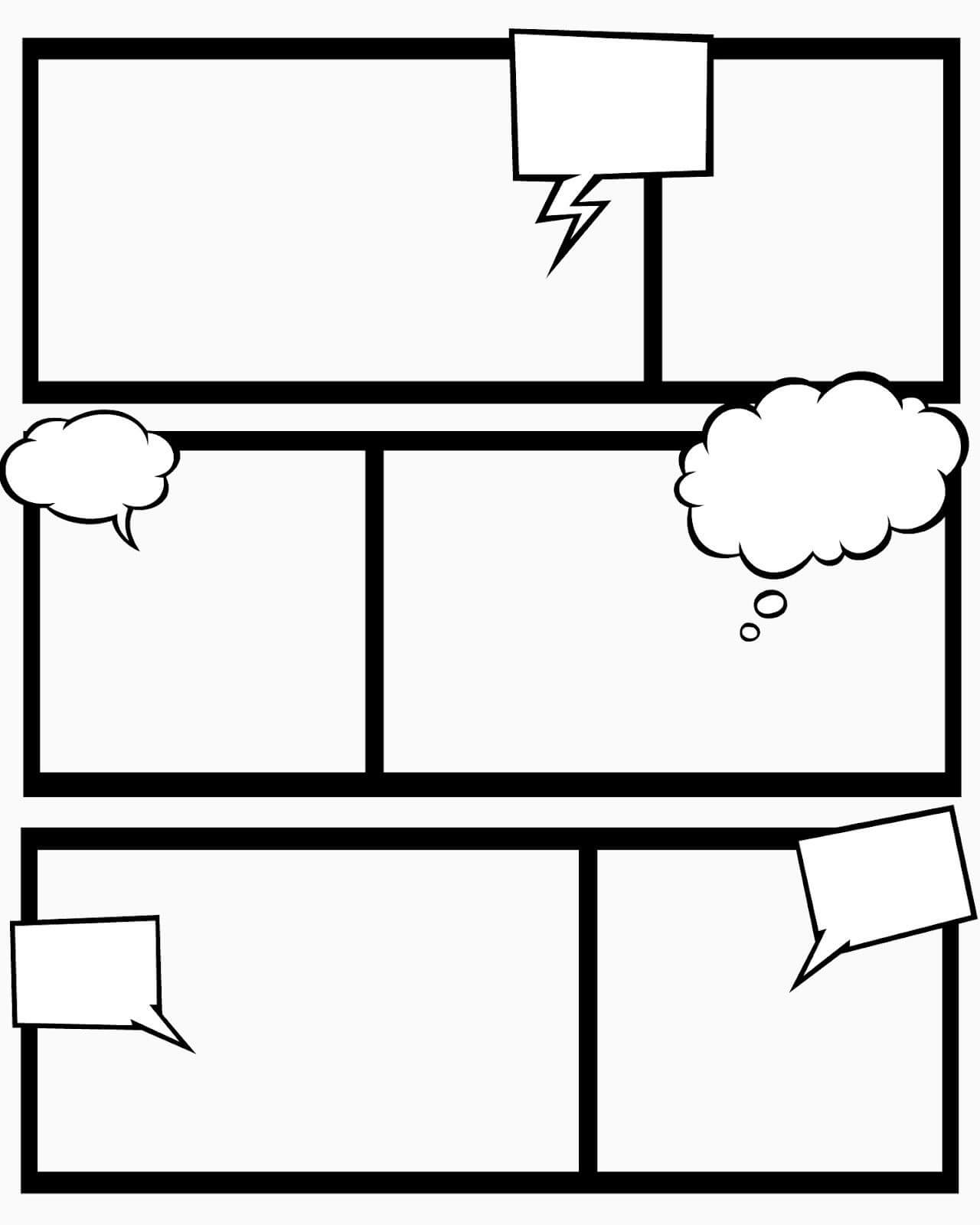 Sweet Hot Mess: Free Printable Comic Book Templates - And Inside Printable Blank Comic Strip Template For Kids