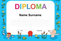 Swimming Award Certificate Template in Swimming Award Certificate Template
