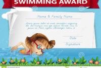 Swimming Award Certificate Template Stock Illustration intended for Swimming Award Certificate Template