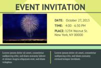 Symmetry Event Invitation Template | Event Invitation regarding Event Invitation Card Template