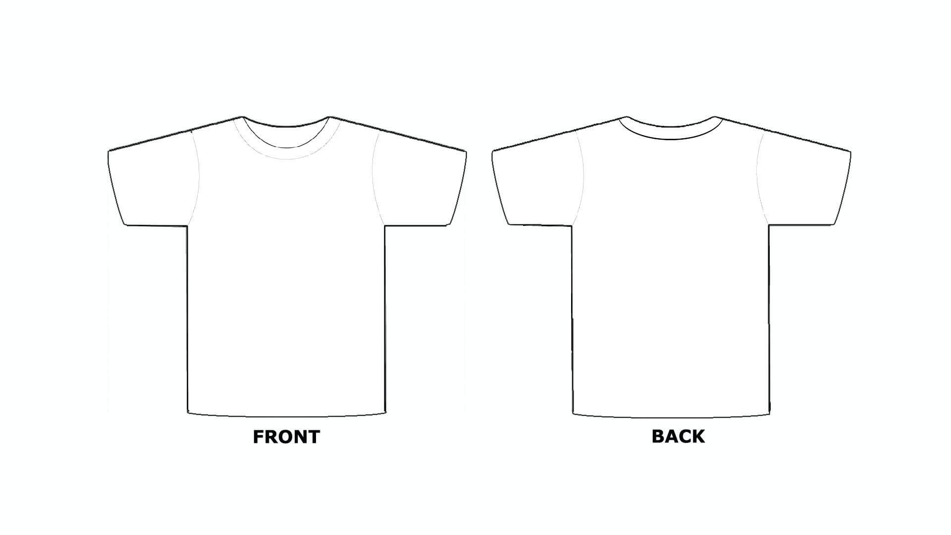 T Shirt Template Printable 5 – 1920 X 1080 – Webcomicms Within Printable Blank Tshirt Template