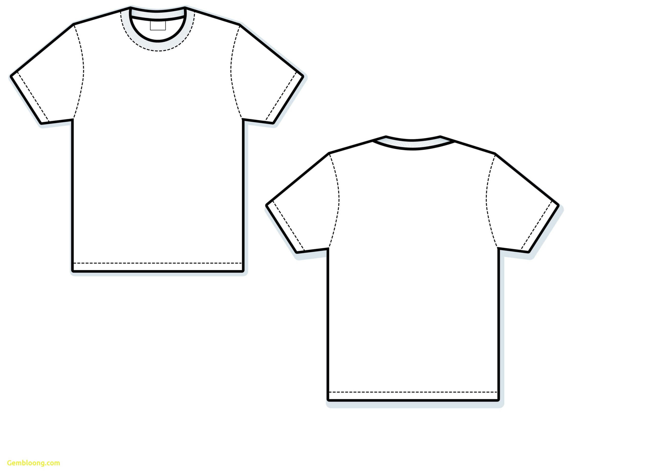 T Shirt Vector Template Awesome Blank T Shirt Free Download Intended For Blank Tee Shirt Template