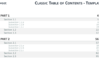 Table Of Content Templates For Powerpoint And Keynote within Microsoft Word Table Of Contents Template