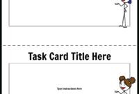Task Card Template 1 Storyboardworksheet-Templates pertaining to Task Cards Template