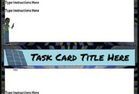 Task Card Template Storyboardanna-Warfield inside Task Card Template