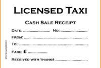 Taxi Receipt Template – Printable Receipt Template for Blank Taxi Receipt Template