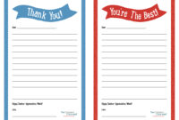 "Teacher Appreciation Week – Printable ""Thank You"" Notes in Thank You Card For Teacher Template"