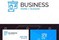 Teacher, Education, Presentation, School Blue Business Logo inside Teacher Id Card Template
