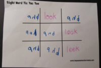 Teacher Mama: Sight Word Practice Made Fun – Boy Mama throughout Tic Tac Toe Template Word