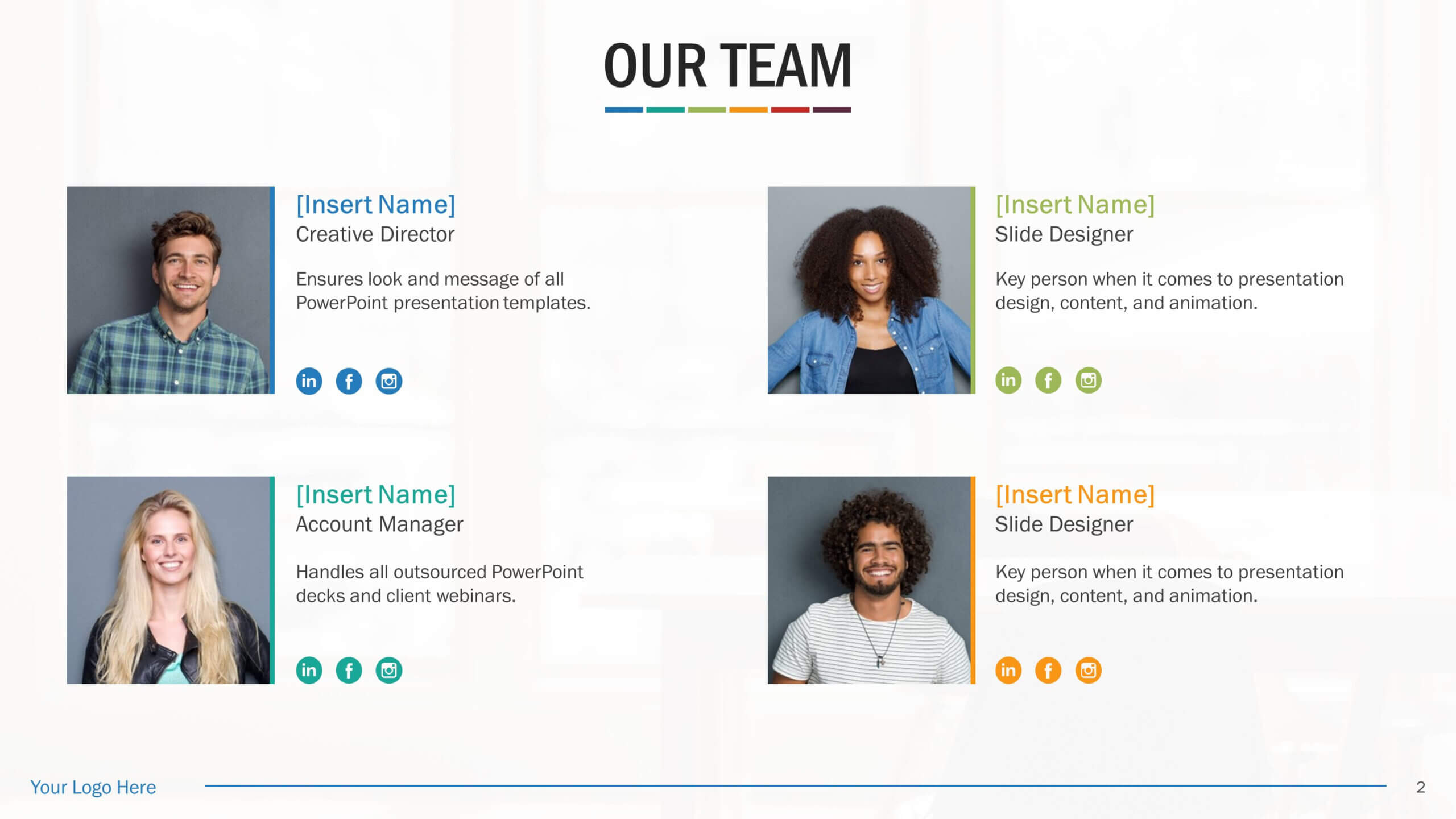 Team Biography Slides For Powerpoint Presentation Templates For Biography Powerpoint Template