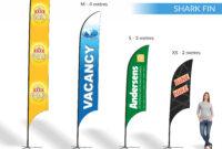 Teardrop | Shark Fin | Block | Banners | Expressway Signs throughout Sharkfin Banner Template