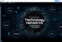 Technology Network Presentation Template | Prezibase With Regard To Powerpoint Templates For Technology Presentations