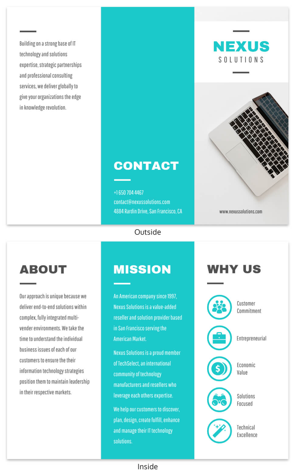 Technology Tri Fold Brochure Template In Technical Brochure Template