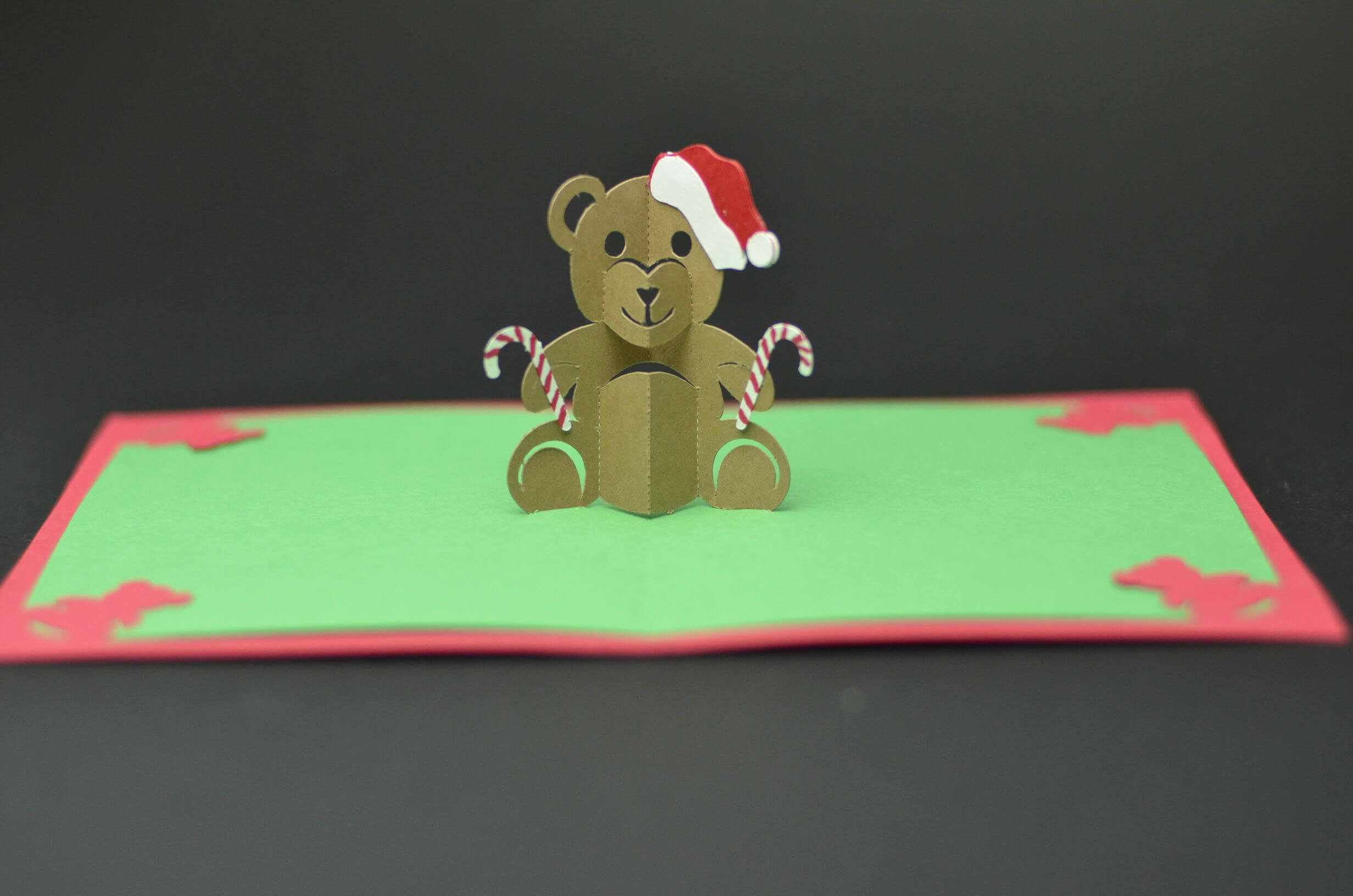Teddy Bear Pop Up Card: Tutorial And Template | Pop Up Regarding Teddy Bear Pop Up Card Template Free