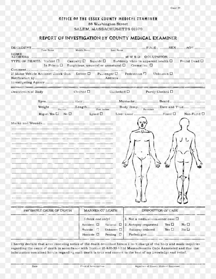 Template Autopsy Microsoft Word Report Résumé, Png For Coroner's Report Template