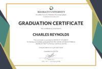 Template Certificate Of Graduation Fresh Certificate intended for Certificate Template For Pages
