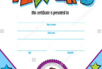 Template Child Certificate To Be Awarded. Kindergarten inside Free Kids Certificate Templates