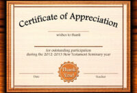 Template: Editable Certificate Of Appreciation Template Free intended for Certificate Of Participation Template Doc