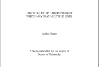 Template For Latex Phd Thesis Title Page – Texblog pertaining to Latex Project Report Template