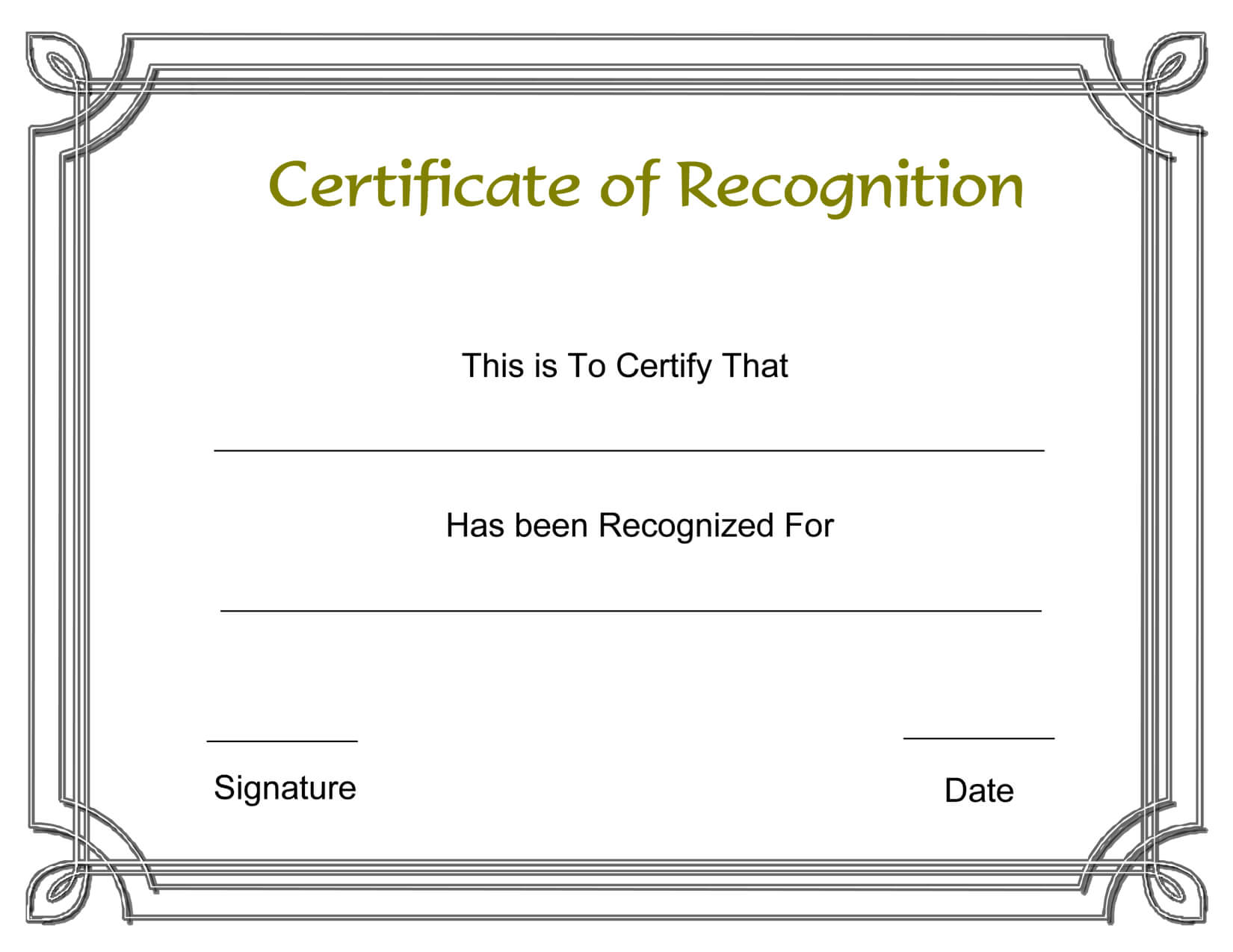Template Free Award Certificate Templates And Employee Inside Employee Recognition Certificates Templates Free