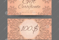 Template Gift Certificate For Yoga Studio, Spa Center within Yoga Gift Certificate Template Free