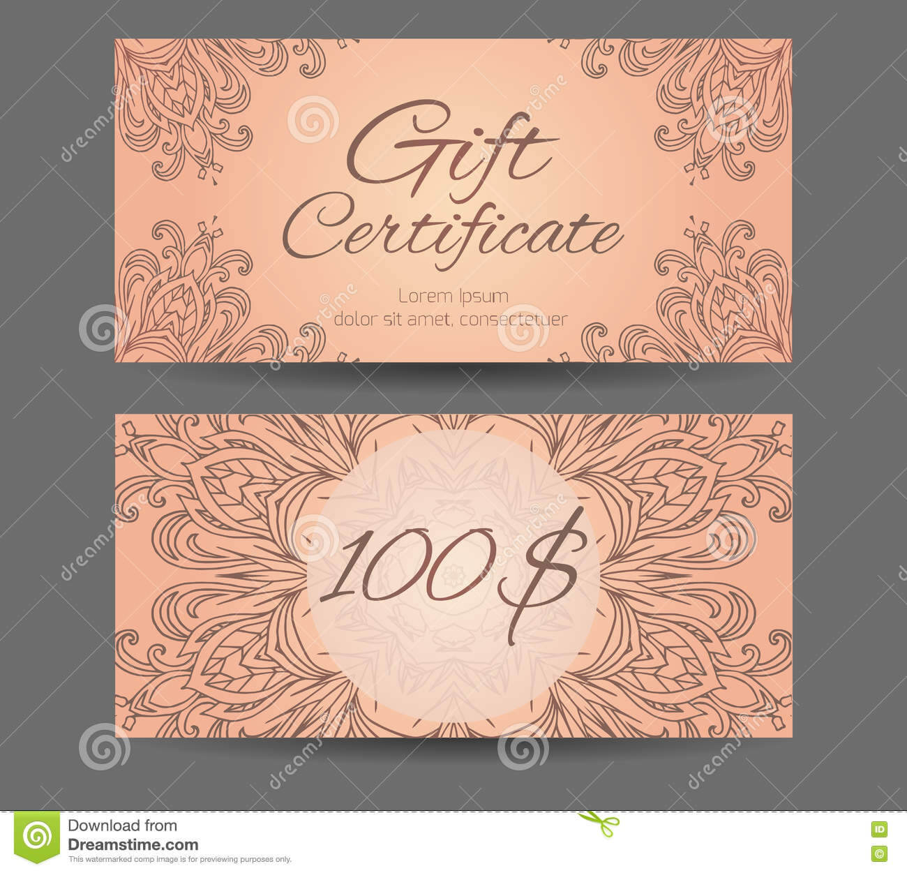 Template Gift Certificate For Yoga Studio, Spa Center Within Yoga Gift Certificate Template Free