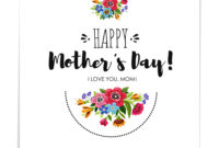 Template Happy Mothers Day Card With Flowers within Mothers Day Card Templates