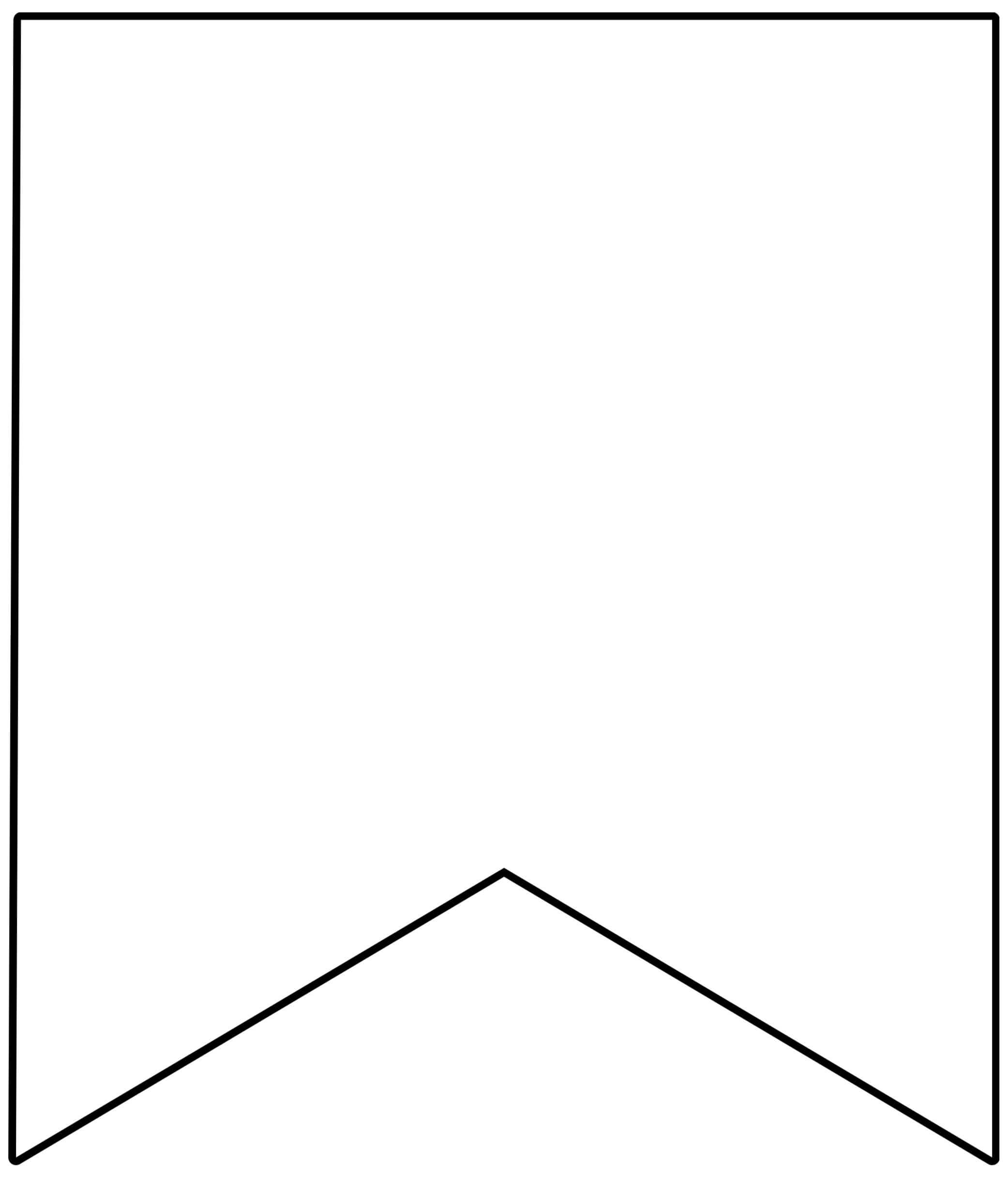 Template Printable Pennant Banner - Epp Acp   Free In Free Triangle Banner Template