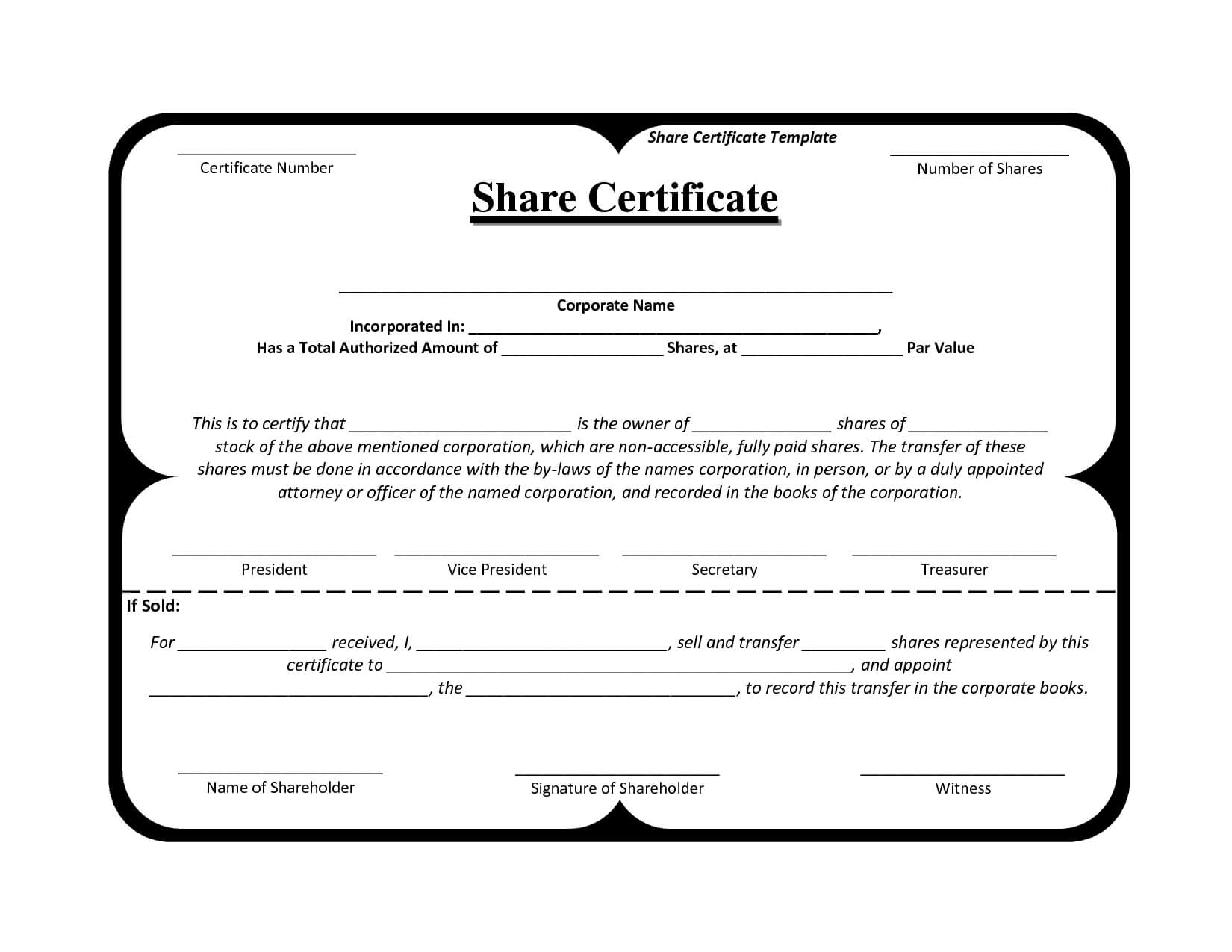 Template Share Certificate Rbscqi9V | Certificate Templates For Template For Share Certificate