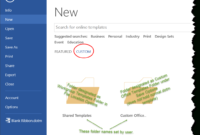 Templates In Microsoft Word – One Of The Tutorials In The For How To Create A Template In Word 2013