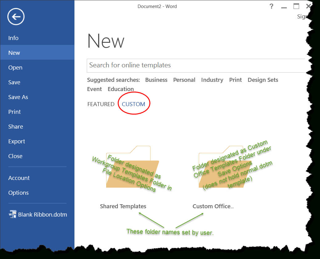 Templates In Microsoft Word - One Of The Tutorials In The With Regard To Word 2010 Templates And Add Ins