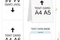 Tent Card A4 A5 Size Mock Up Die-Cut Stock Vector in Free Tent Card Template Downloads