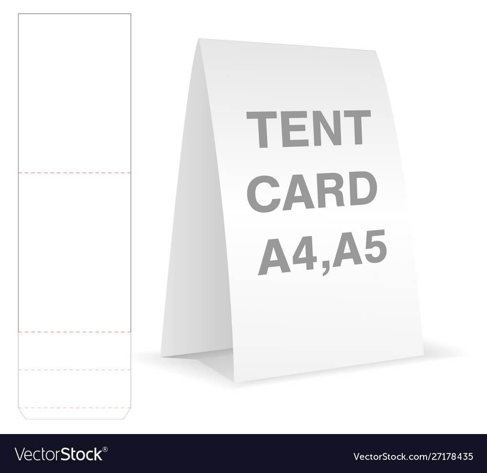 Tent Card Die Cut Mock Up Template With Regard To Free Tent Card Template Downloads
