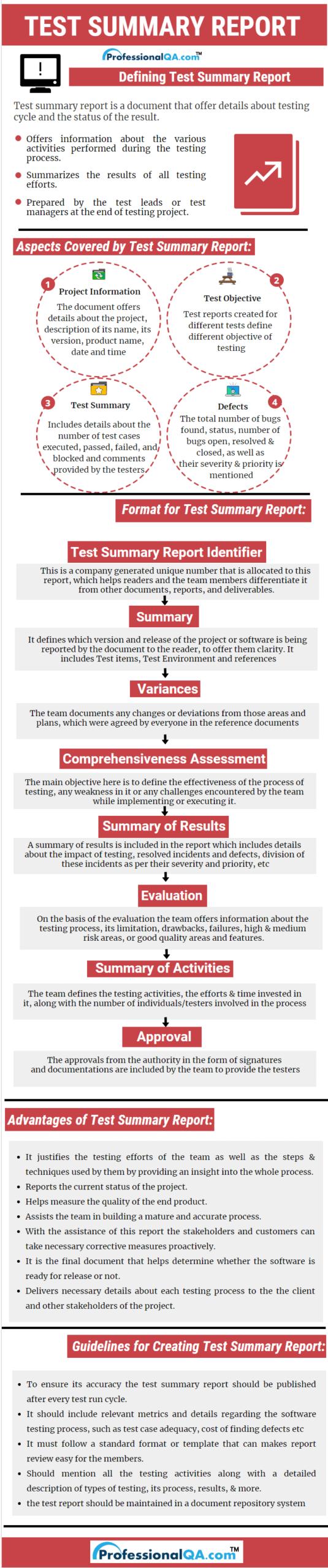 Test Summary Report |Professionalqa In Evaluation Summary Report Template
