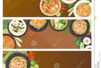 Thai Food Banner Template Stock Vector. Illustration Of for Food Banner Template