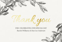Thank You Cards & Thank You Notes for Sympathy Thank You Card Template