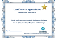 Thank You Certificate Template | Certificate Templates in Workshop Certificate Template