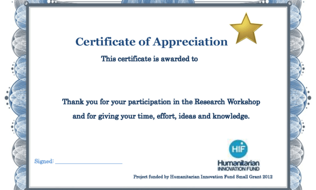 Thank You Certificate Template | Certificate Templates inside Small Certificate Template