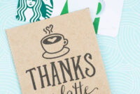 Thanks A Latte! Free Printable Gift Tags | Skip To My Lou pertaining to Thanks A Latte Card Template