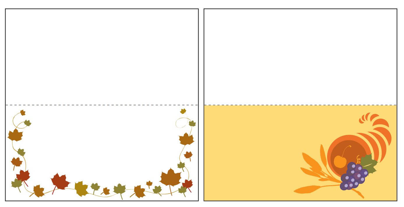 Thanksgiving Place Card Templates Gallery - Free Templates Ideas With Regard To Thanksgiving Place Card Templates