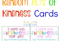 The Best Random Acts Of Kindness Printable Cards Free in Random Acts Of Kindness Cards Templates