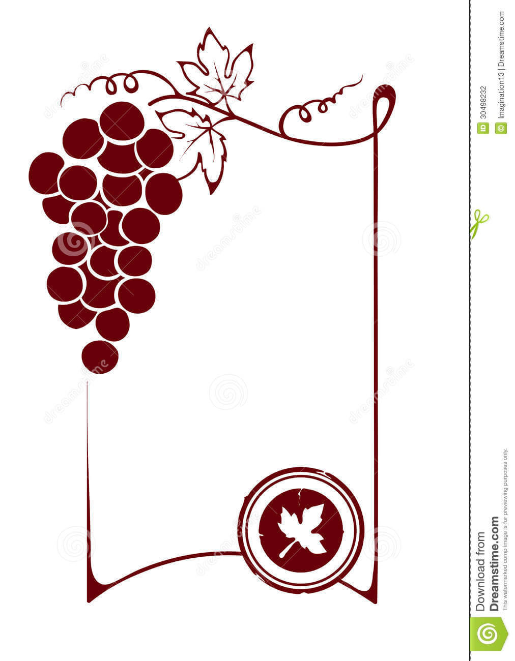 The Blank Wine Label Stock Vector. Illustration Of Decor Within Blank Wine Label Template