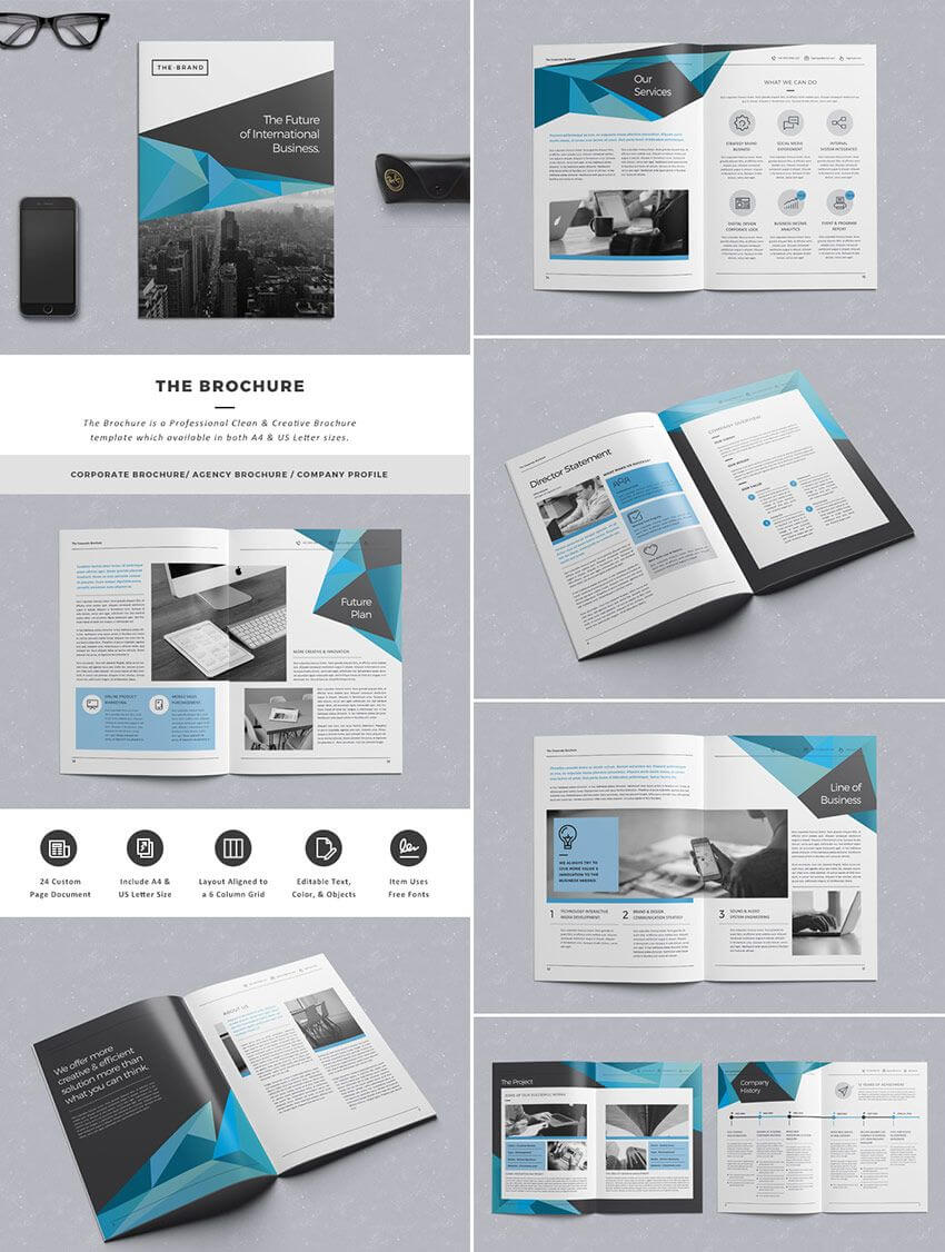The Brochure - Indd Print Template | Indesign Brochure Within Indesign Templates Free Download Brochure