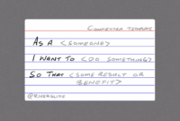 The Card Is Not The User Story – Dzone Agile in Agile Story Card Template