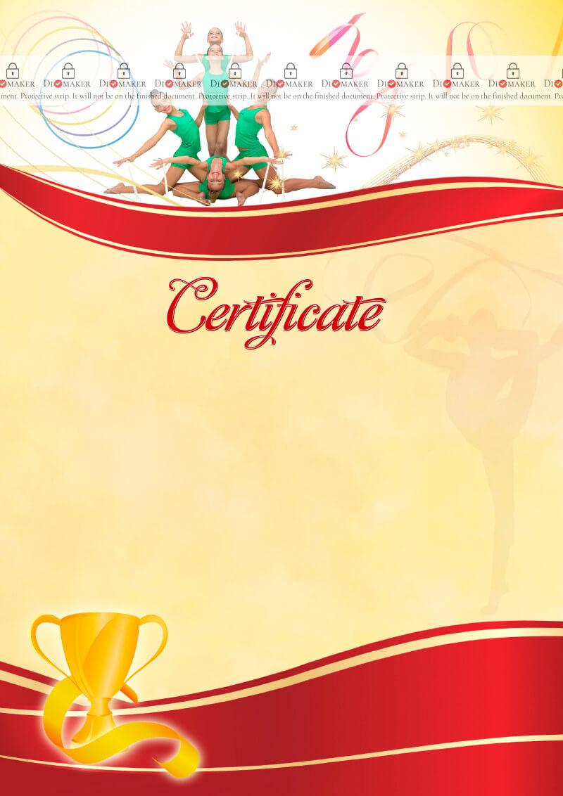 The Certificate Template «Rhythmic Gymnastics» - Dimaker Pertaining To Gymnastics Certificate Template