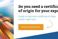 The Chamber Of Commerce And Export Documents: The regarding Certificate Of Origin For A Vehicle Template